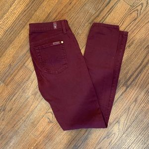 NWOT 7 for all mankind maroon pants